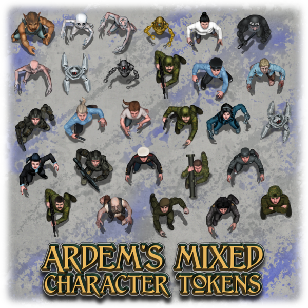 Ardem's mixed character tokens