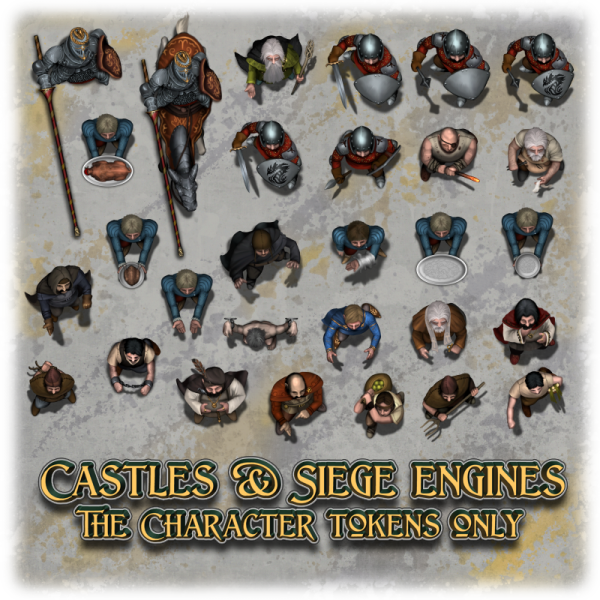 Castles & Siege engines - Character tokens only