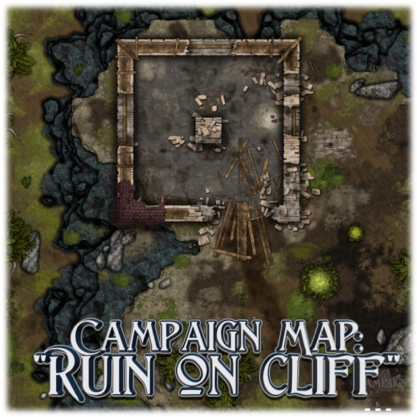 Campaign Map - Ruin on cliff