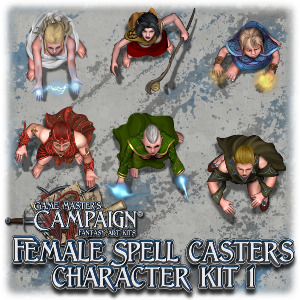 Female Spell casters character kit 1