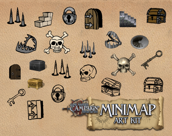 treasure map key symbols