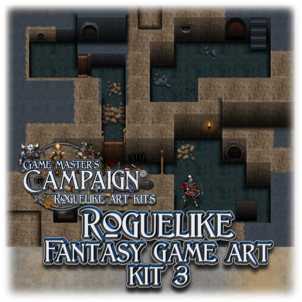 "Roguelike Fantasy game art kit 3 - ""Dungeon Tiles"""