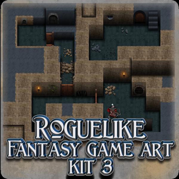 """Roguelike Fantasy game art kit 3 - """"Dungeon Tiles"""""""
