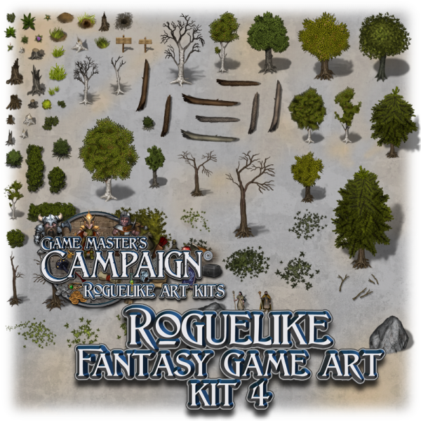 "Roguelike Fantasy game art kit 4 - ""Summer Forest"""