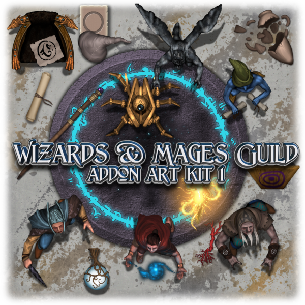 Wizards & Mages guild addon art kit