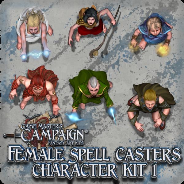 Female Spell casters character kit 1