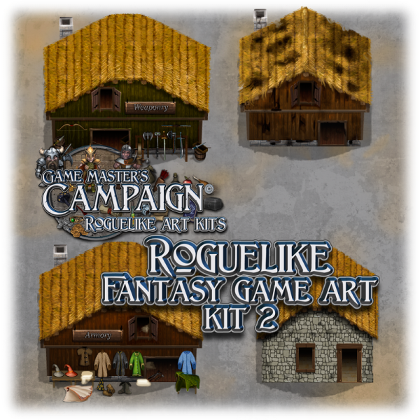 "Roguelike Fantasy game art kit 2 - ""Buildings"""