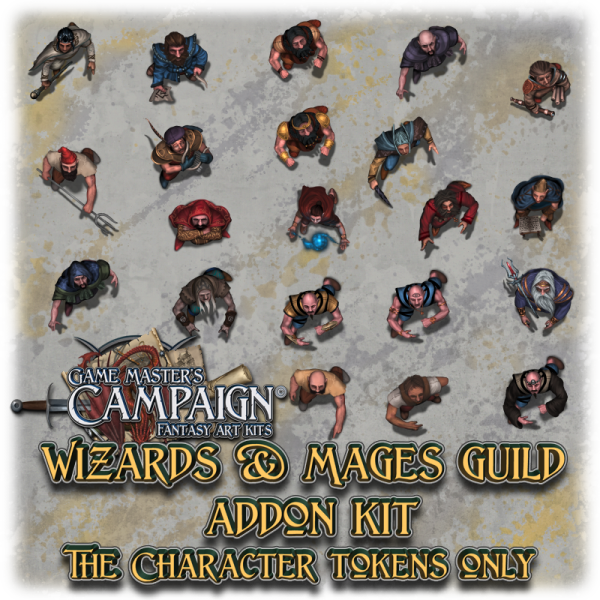 Wizards & Mages guild addon kit - Character tokens only